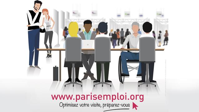 Paris pour l emploi 2 000 recruteurs place de la for Salon paris pour l emploi 2017