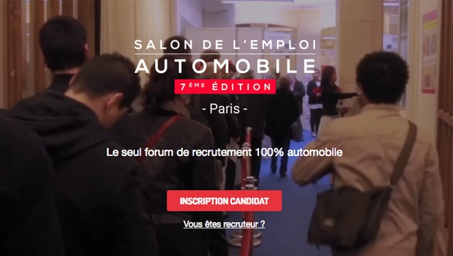 Salon de l emploi automobile 2 400 postes pourvoir le for Salon recrutement 2017