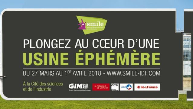 Du 27 mars au 1er avril, le salon SMILE recrée une usine éphémère à l'occasion de la Semaine de l'industrie.